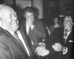 Alain Delon e Jean-Marie Le Pen