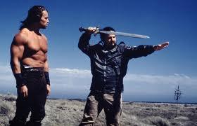 John Milius e Arnold Schwarzenegger
