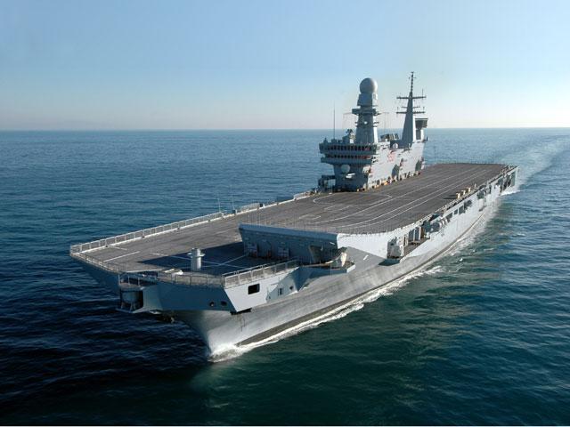 Difesa per sei mesi la cavour si trasforma in nave promoter - Nave portaerei ...