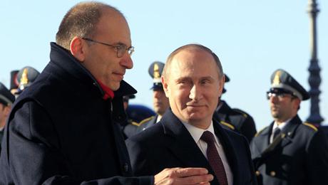 Proficuo incontro tra Enrico Letta e Vladimir Putin