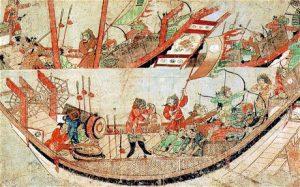 samurai-giapponesi-abbordano-una-nave-yuan-nel-1281