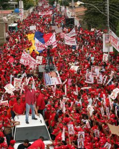 Il PSUV in piazza