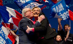 Front National, French presidential election campaign meeting, Nice, France - 30 Mar 2012