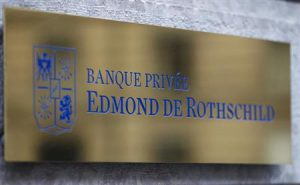 A logo of Banque Privee Edmond de Rothschild is seen on the bank building before a news conference for the group's 2010 results, in Geneva
