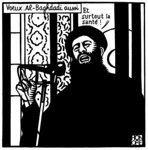 Al Baghdadi vignetta Charlie Hebdo