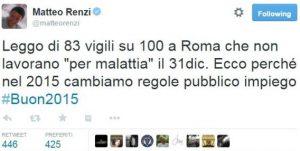Renzi vigili Roma
