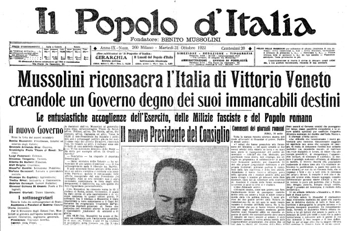 Chi tradisce perisce 130 anni fa nasceva arnaldo mussolini for Chi fa le leggi in italia