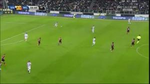 Pressing ultraoffensivo del Milan con occupazione metà campo avversaria