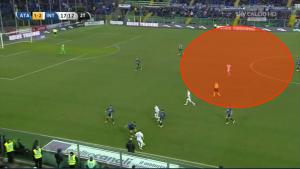 Eccessivo lo spazio concesso a Guarin: l'Atalanta, dopo i primi minuti, non è riuscita a tenere i reparti corti per togliere spazi tra le linee ai giocatori dell'Inter