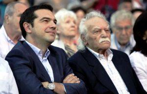 Tsipras e Glezos durante la campagna elettorale