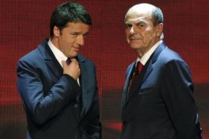Pier Luigi Bersani sfida Matteo Renzi