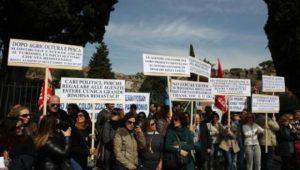 Protesta operatori turistici Pompei