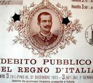 debito pubblico regno d'italia