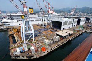 Genova Sestri Ponente - lo stabilimento Fincantieri