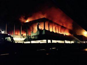 Incendio Fiumicino