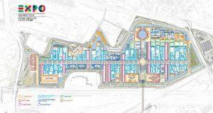 Planimetria del sito dove si terrà Expo 2015