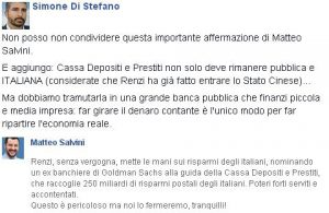 Di Stefano Cassa Depositi e Prestiti