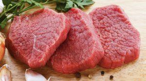 Fresh raw beef on cutting board