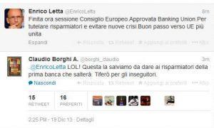 Letta borghi unione bancaria
