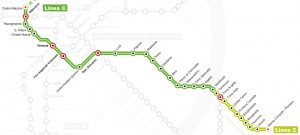 metro C Roma mappa