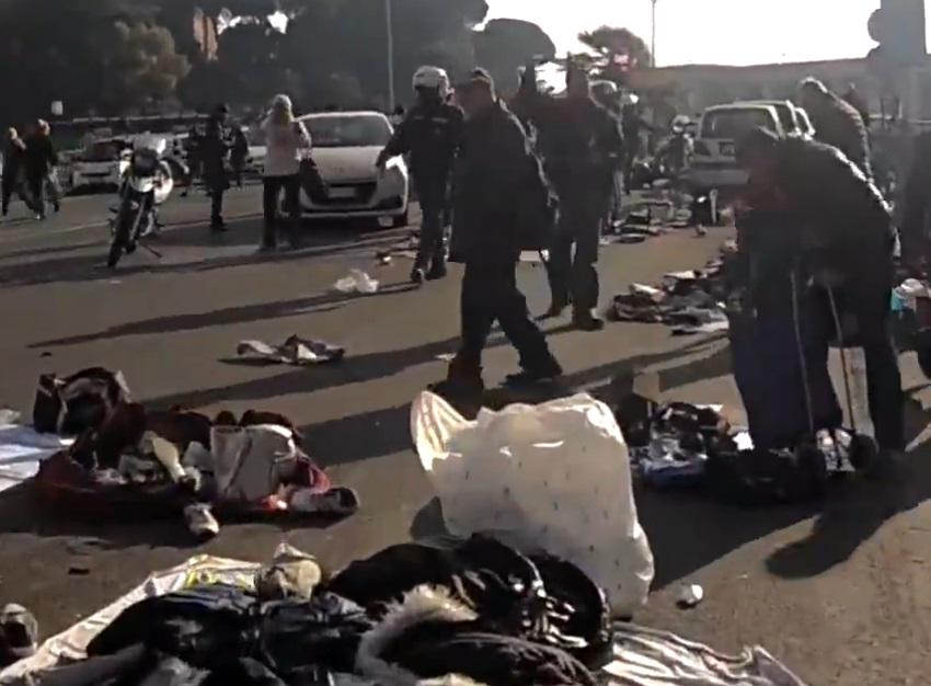 venditori abusivi polizia municipale di roma capitale