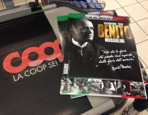 Calendario di Mussolini alla Coop