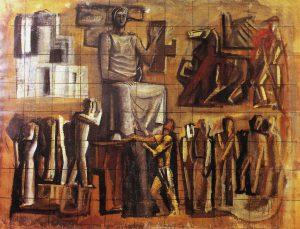 Mario Sironi, L'Italia Corporativa, 1936, Coll. privata , Roma
