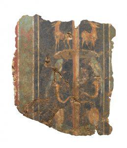 Una parte dell'affresco romano ritrovato a Londra