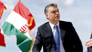 Hungarian Prime Minister Viktor Orban attends a foundation stone laying ceremony for a new division of the Knorr-Bremse factory in Kecskemet, 90km (56 miles) east of Budapest, April 11, 2013. REUTERS/Laszlo Balogh (HUNGARY - Tags: TRANSPORT BUSINESS POLITICS)
