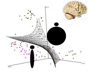 Schema funzionamento di un classificatore matematico basato su dati di neuroimaging strutturale