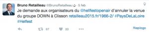 Il tweet del presidente della regione