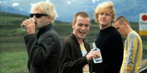Trainspotting de DannyBoyle avec Jonny Lee Miller, Ewan McGregor, Kevin Kidd, Ewen Bremner 1996