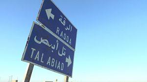 raqqa cartello stradale