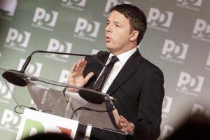 Matteo Renzi durante l'Assemblea Nazionale del Partito Democratico, Roma, 21 Febbraio 2016. ANSA/GIUSEPPE LAMI