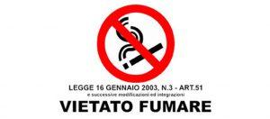 vietato fumare fumo
