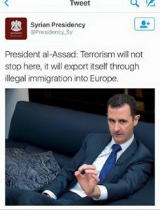 Il presidente siriano Assad lo aveva detto già dal 2013