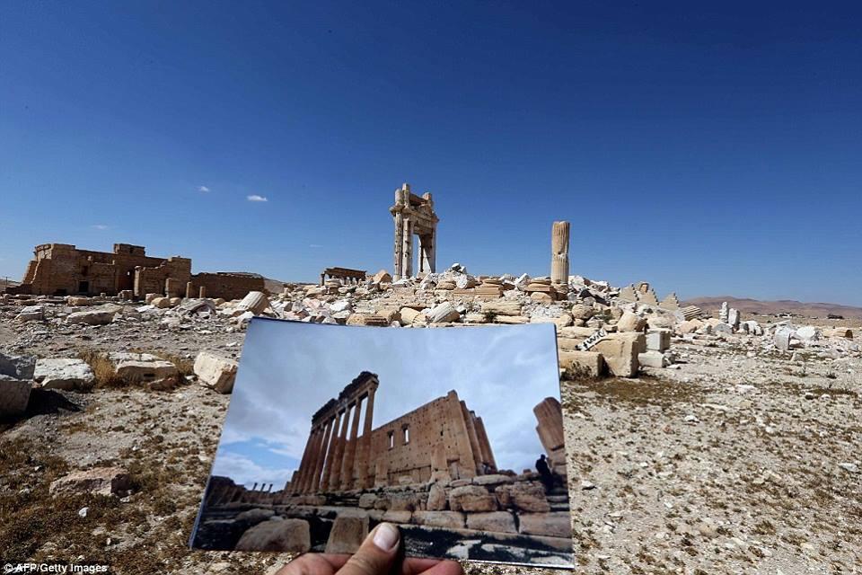 palmira prima e dopo l 39 isis le immagini della devastazione