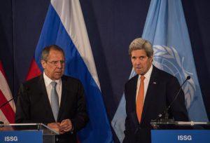 Il Ministro degli Esteri russo Lavrov ed il Segretario di Stato Kerry a Vienna