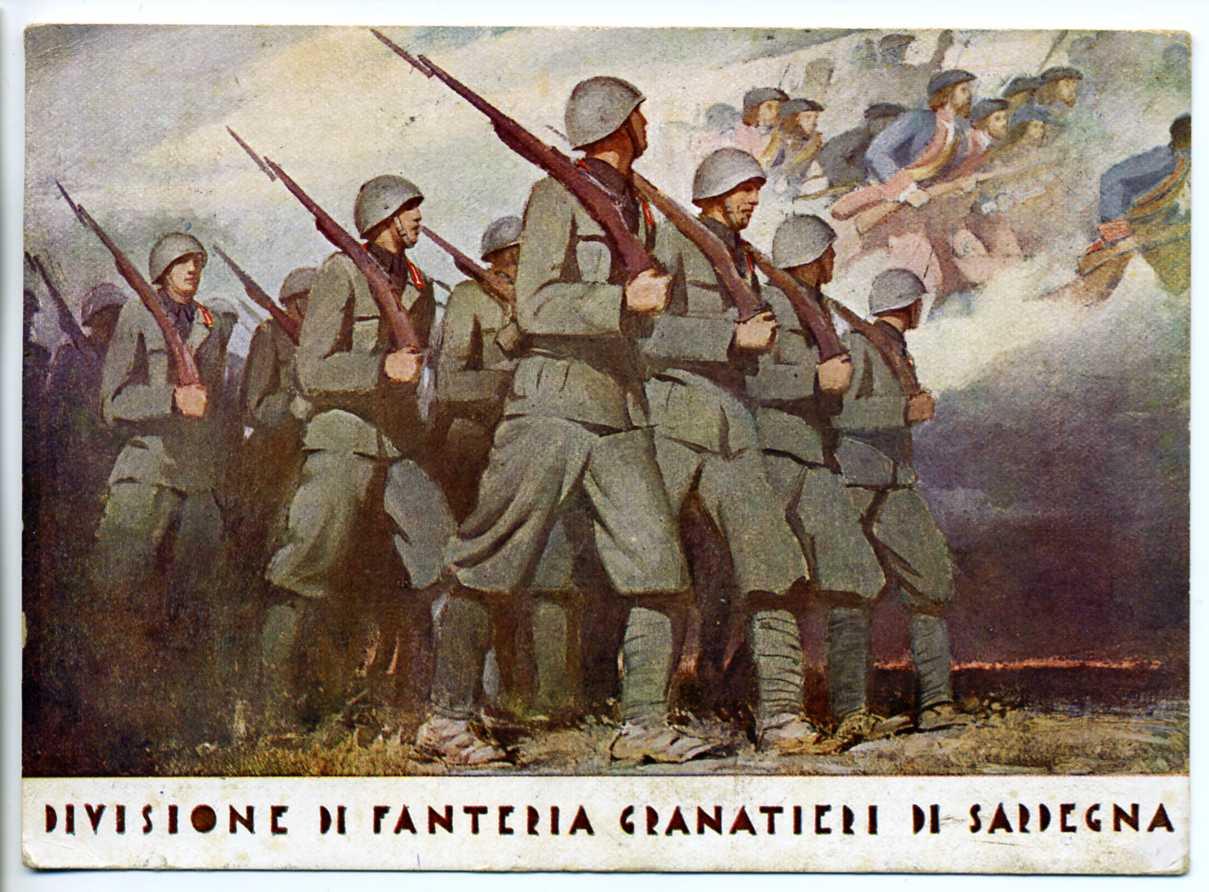 Cartolina_divisione_granatieri_sardegna