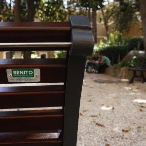 panchine palazzo venezia Benito