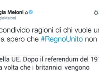 Brexit Meloni Salvini 5 Stelle