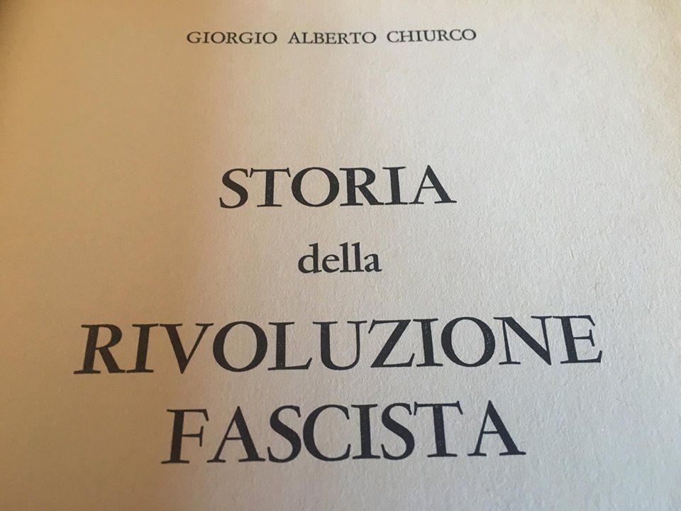 Giorgio Alberto Chiurco fascismo