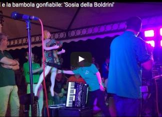 Salvini Boldrini bambola gonfiabile