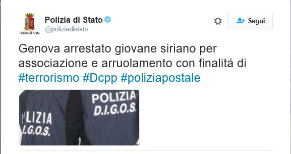 jihadista arrestato a Genova