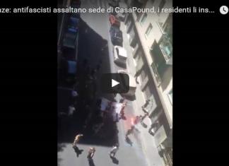 CasaPound antifascisti assalto firenze
