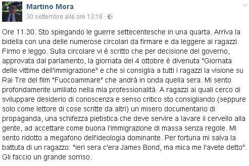 immigrazione circolare professore scuola Milano