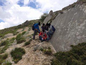 La faglia sul monte Vettore nel 2014