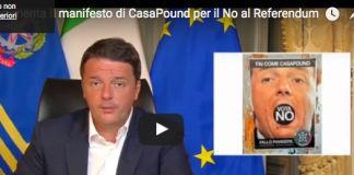 Renzi CasaPound manifesto Referendum