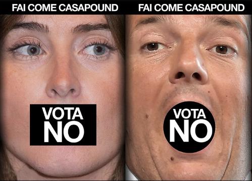 CasaPound Renzi No Referendum Boschi