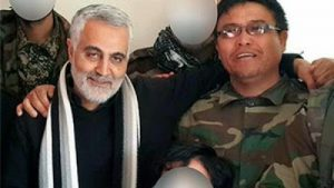 Ali Reza Tavassoli con il comandante Soleimani